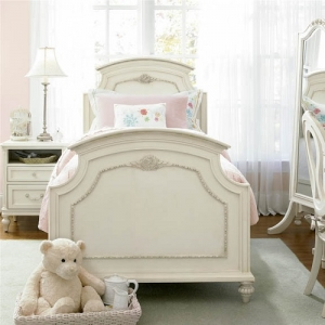 0011TB Celeste Twin Panel Bed - <b>Optional Drawers or Trundle</b><br><br>