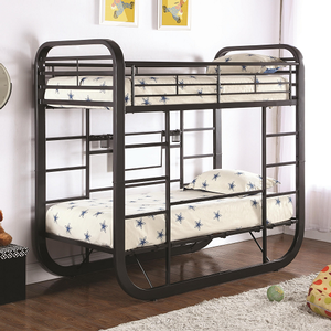 143MBB Metal Twin/Twin Convertible Workstation Loft Bunk Bed - Finish: Dark Gunmetal<br><br>Available in Full/Full Size<br><br>Slat Kit Included<br><br>Dimensions: 81.25