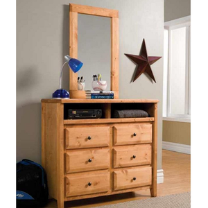 198M Tall Rectangular Mirror - Finish: Amber Wash<br><br>Dresser Sold Separately<br><br>Dimensions: 30W  x  1D  x  36H