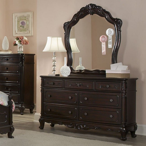 201M Victorian Mirror - Finish: Black<br><br>Dresser Sold Separately<br><br>Dimensions: 38 x 2 x 44H