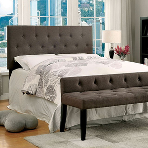 203HB Upholstered Headboard in Twin - Finish: Gray Fabric<br><br>Available in Queen/Full Compatibility<br><br>Dimensions: 42 1/4