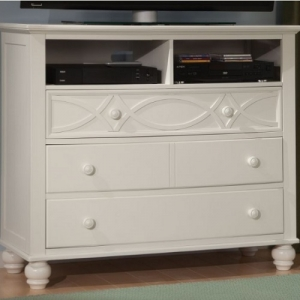 002MCH Cottage Style Media Chest - Cottage Style media chest with dovetailed drawers and ball bearing slide glides<br><br>