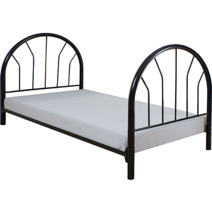 268HB Black Headboard & Footboard - Finish: Black<br><br>Available in Red, White & Blue<br><br>Dimensions: 42