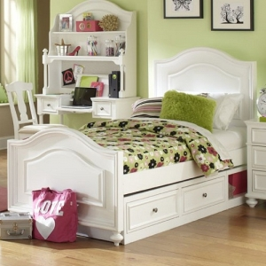 0120T Twin Panel Bed  - Accommodates Trundle/Storage<br><br>Drawer or Underbed Storage Drawer<br><Br>