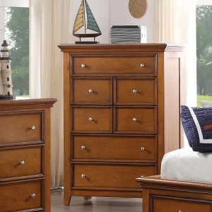 307CH Kaylen Collection 7 Drawer Chest - Finish: Cherry Oak<br><br>Available in White<br><br>Dimensions: 36