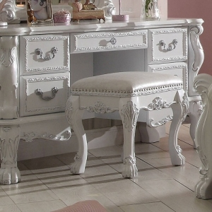 Diana Collection Antique Stool - Scrolled Ornamental Details<br><br>