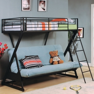 37134 Zazie Collection Twin Over Futon Bed