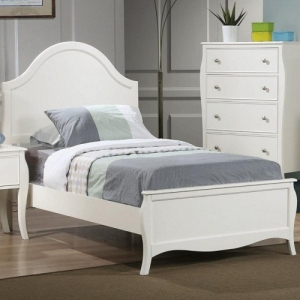084FB Full Youth Bed - The bed features flared posts, simple curved molding<br><br>French country design for a sweeter room<br><br>