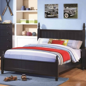 073FB Full Bed with Cottage Style Design - The cottage style bed has a head and footboard with distinctive paneling detail<br><br><b>Finish:</b> Blue<br><br>