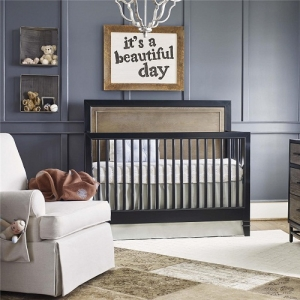 021CRB Convertible Crib  - Backpack finish in the headboard, with a Chalkboard perimeter post, top rail and bottom rail<br><Br>Removable feet for two overall crib height options<br><Br>Three mattress heights<br<br>Fully finished mattress platform<br><Br>