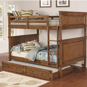 A0016TF Full/Full Bunk Bed - Finish: Rustic Honey<br><br>Available in Twin/Twin & Twin/Full Bunk<br><br>*Optional Storage Trundle<br><br>Dimensions: 81
