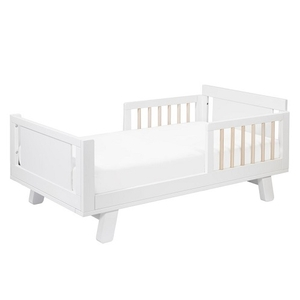 CB009 Junior Bed Conversion Kit in White/Washed Natural - Finish: White/Washed Natural<br><br>Available in Grey, White, Washed Natural & Espresso<br><br>Made in Taiwan<br><br>Assembly Weight: 70.4 lbs<br><br>Dimensions: 53.5