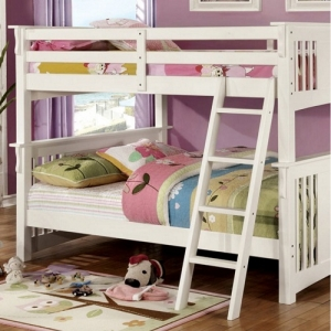 008FF Full/Full Bunk Bed - Available in Twin XL/Queen, Twin/Twin & Twin/Full<br><br> Mission Style<br><br>10 Pc. Slats Top & Bottom<br><br>Extra Safety Insert & Lock Joint Structure<br><br>