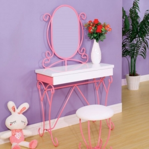 022V Vanity Set W/ Stool - Sturdy & Durable Metal Construction<br><Br>Smooth & Durable Full Extension Metal Glides<br><br>