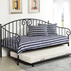 014MDB Metal Daybed in Black - Transitional Style<br><Br>Metal Daybed<br><Br>Link Spring Included<br><Br>