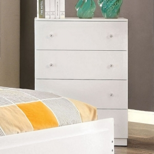 110CH Contemporary Chest W/ 4 Drawers - White Contemporary Style Chest with 4 drawers <br><br>