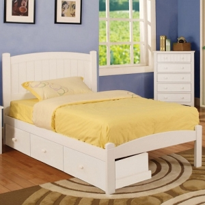 085FB Full Bed - Platform Bed<br><br>Slat Kit Included<br><br>Paneled Head Board<br><br>