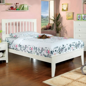 090FB FULL BED - Platform Bed<br><br>Paneled Headboard<br><br>Slat Kit Included<br><br>