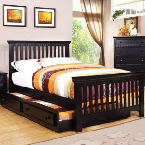 081FB Full Bed - Finish: Black<br><br>Foundation Required<br><br>Available in Twin Size<br><br>Dimensions: 80 1/8