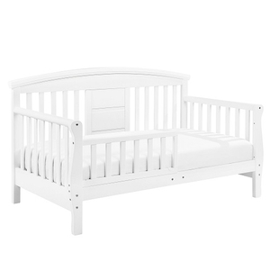 011TRB Convertible Toddler Crib in White - Finish: White<br><br>Available in Espresso<br><br>Assembly Required<br><br>Made in Taiwan<br><br>Assembly Weight: 32 lbs<br><br>Dimensions: 55.625 x 30 x 32.375