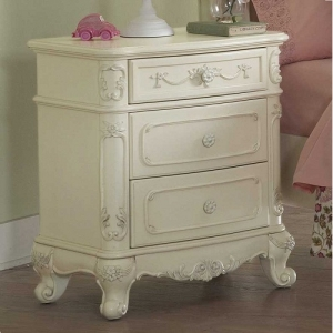 019NS Nightstand  - Cottage Style Nightstand with Dovetailed Drawers and Metal Glides<br><Br>