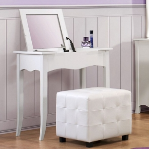 007V Vanity Desk  - *Ottoman Sold Separately*<br><br>