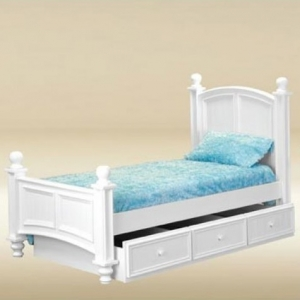 0246 Twin Bed in White - *Underneath Storage Sold Separately*