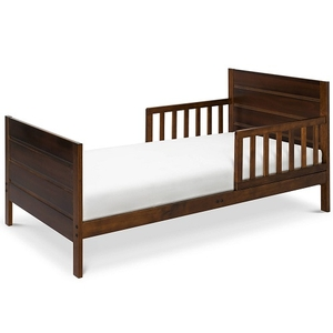 009TRB Modern Toddler Bed in Espresso - Finish: Espresso<br><br>Available in Grey, Black & White<br><br>Assembly Required<br><br>Made in China<br><br>Assembled Weight: 25 lbs<br><br>Dimensions: 53.75 x 29.5 x 23.125