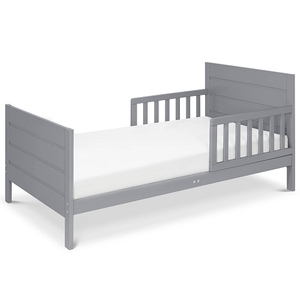 002TRB Modern Toddler Bed in Grey - Finish: Grey<br><br>Available in Espresso, Black & White<br><br>Assembly Required<br><br>Made in China<br><br>Assembly Weight: 25 lbs<br><br>Dimensions: 53.75 x 29.5 x 23.125