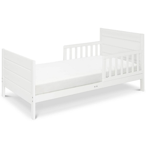 004TRB Modern Toddler Bed in White - Finish: White<br><br>Available in Grey, Espresso & Black<br><br>Assembly Required<br><br>Made in China<br><br>Assembled Weight: 25 lbs<br><br>Dimensions: 53.75 x 29.5 x 23.125