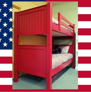 US0001 Twin over Twin bunk bed - Available in 34 different colors.