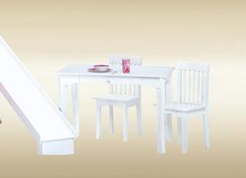 KC-W Kids Chair in White  - W12