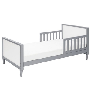 013TRB Simple Two Tone Toddler Bed in Grey/White - Finish: Grey/White<br><br>Available in White, White/Walnut, & Washed Natural/White<br><br>Assembly Required<br><br>Made in Taiwan<br><br>Assembled Weight: 28.66 lbs<br><br>Dimensions: 55