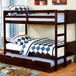 A0011FF Full/Full Bunk Bed in Dark Walnut - Finish: Dark Walnut<br><br>Available in White or Gray Finish<br><br>Available in Twin/Twin Bunk Bed<br><br>Foundation Required<br><br>Dimensions: 77 1/2
