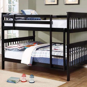 A0016FF Full/Full Bunk Bed w/ Bunk to Bunk Ladder - Finish: Black<br><br>Available in White<br><br>Available in Twin/Twin & Twin/Full<br><br>**Optional Storage Trundle<br><br>Slat Kit Included<br><br>Dimensions: 79.75