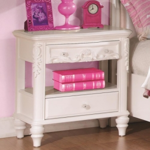 001NS Nighstand - Pink felt-lined top drawers<br><br>