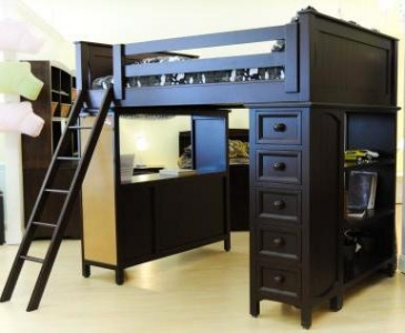 005 Spacesaver Loft Bed with Cork Board  - Spacesaver loft bed